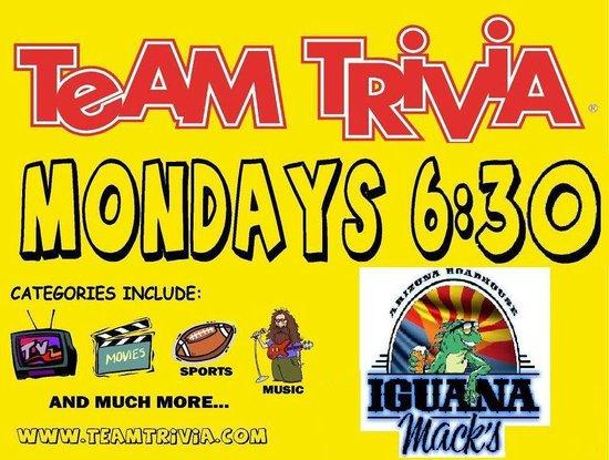 Iguana Mack's: Monday Team Trivia