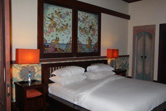 Bidadari Private Villas & Retreat: спальня на втором этаже