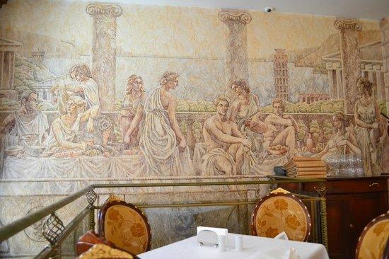 Podol Plaza: mural in restaurant