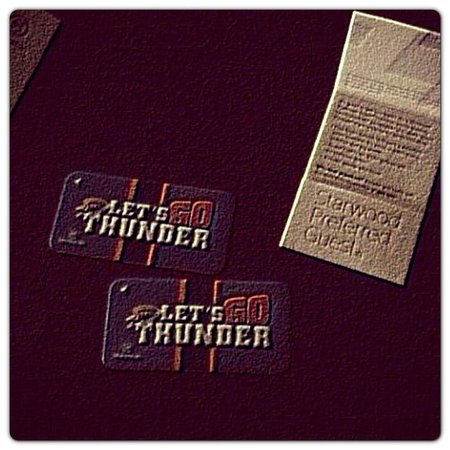 Sheraton Oklahoma City Downtown Hotel : Lets Go Thunder room keys!