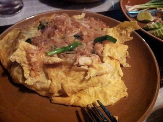 """Thai Room: """"Pad Thai""""  wrapped in an omelet"""