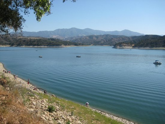 Bradbury dam picture of lake cachuma santa barbara for Cachuma lake fishing