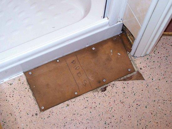 Ye Old Crown: mdf panel on bathroom floor