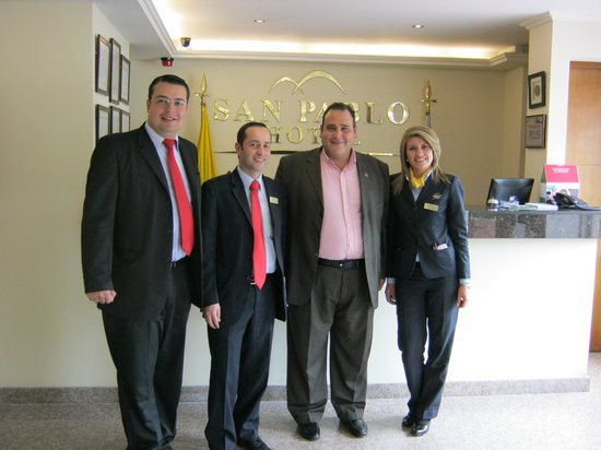 San Pablo Hotel : Con Los Ejecutivos del Hotel San Pablo