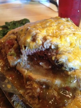 Boss Hogg's Restaurant & Saloon: Green Chili Burger, Delicious!