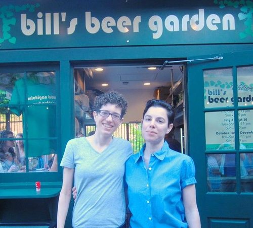 Enjoying friends picture of bill 39 s beer garden ann arbor tripadvisor for Ann arbor beer garden