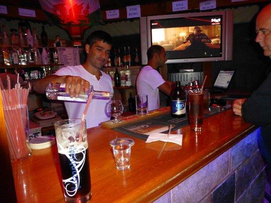 Agar Apartments: at the bar