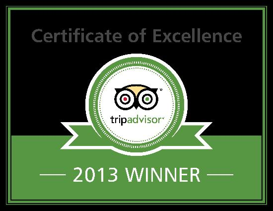 The Wilshire Grand Hotel: 2013 Certificate of Excellence