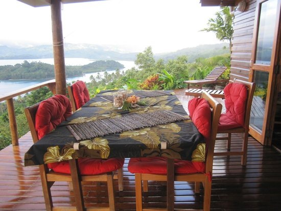 Naveria Heights Lodge: Every morning we had a three course breakfast on the balcony