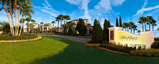 Enjoy luxurious villa-style vacation suites with kitchens and balconies, outdoor pool tiki bar, and free shuttle service at our resort near Disney World.
