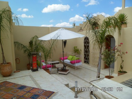 Riad Safir: One area of Roof Terrace