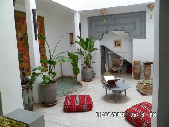 Riad Safir : Reception/Lounge Area (good WiFi here)