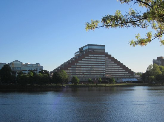 Hyatt Regency Cambridge, Overlooking Boston: From the other side of the Charles River