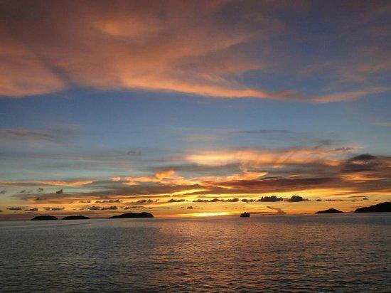 Sunset view from Al Fresco's Restaurant
