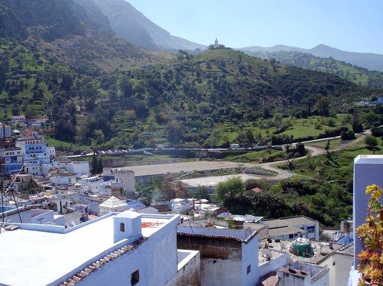 Hostal Guernika: Vue depuis la terrasse !