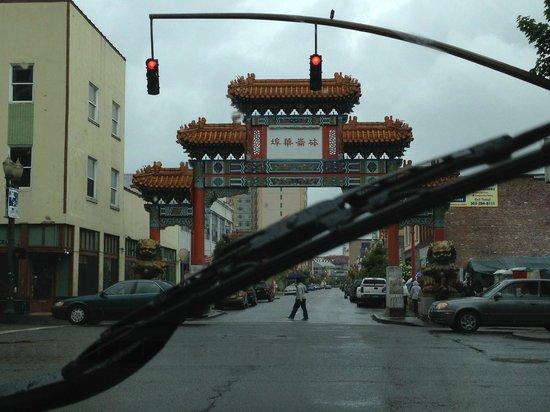 Chinatown Gate: view from our car