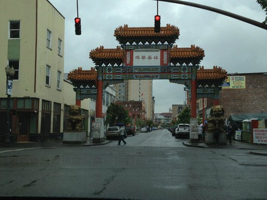 Chinatown Gate: arch from across the street