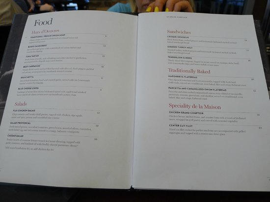 Menu (food) - Picture of Le Grand Comptoir, Newark - TripAdvisor on