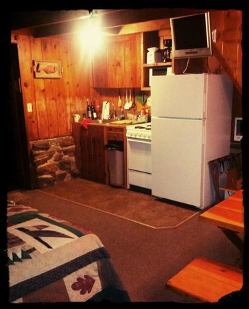 Full kitchenette home away from home picture of for Home away from home cabins