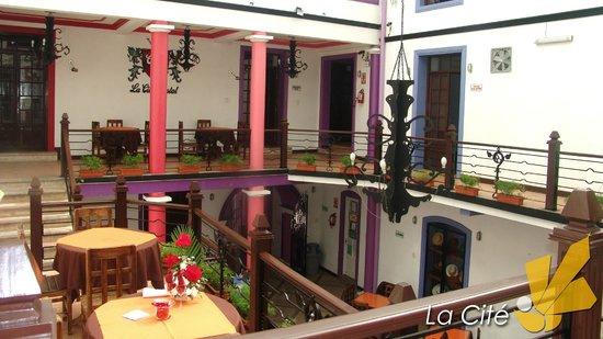 La Cite Hostal: Restaurant, seción colonial.