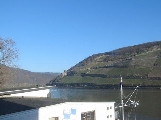 NH Bingen: View of far hillside from NH