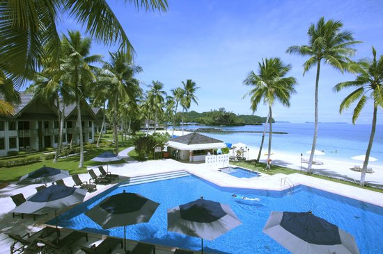 Palau Pacific Resort: Pool Beach Room View