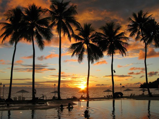 Palau Pacific Resort: Sunset