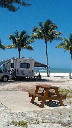 Red Coconut RV Park: beach, sandwich, nap, bike,beach