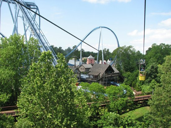 View From Lift Picture Of Busch Gardens Williamsburg Williamsburg Tripadvisor