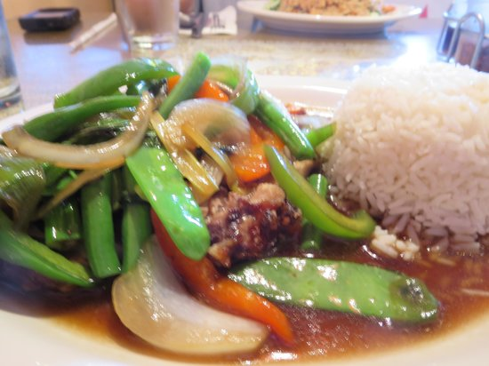Pattaya: Mixed Vegetables With Crispy Roasted Duck.