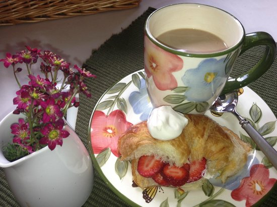 Swan Hill Bed & Breakfast: Strawberries and Cream!