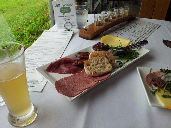 Ekhidna Wines McLaren Vale Cellar Door: warming ploughmans lunch on a cool autumn day