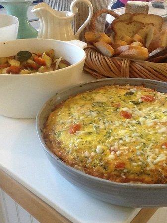 Lavender Inn: Roasted Organic Vegetable Frittata