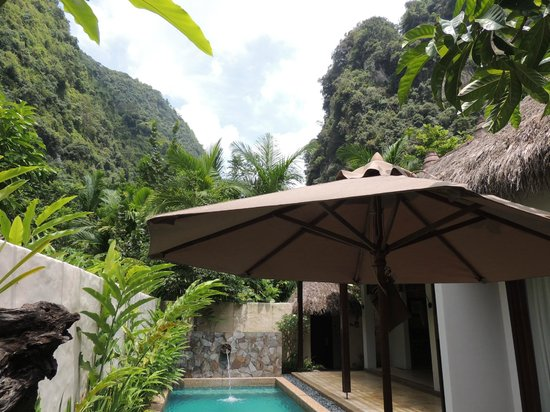 The Banjaran Hotsprings Retreat: view from the room