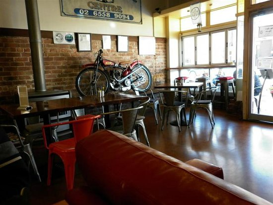 roadies cafe: part of the decor inside roadies