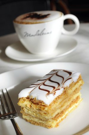 Madeleine Cafe & Boulangerie: Madeleine Cafe & Boulangerie - Mille Feuille and Coffee
