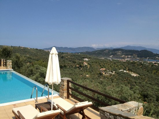 Skiathos Garden Cottages: View from the pool area