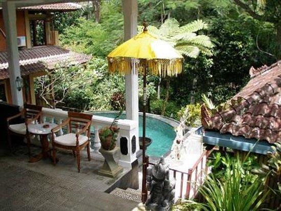 B&B Home Stay Griya Jungutan: Relaxing Pool Area