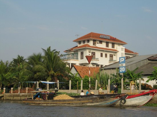 An Binh Hotel : View of the hotel from the Mekong River