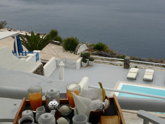 Oia Suites: View from our Balcony