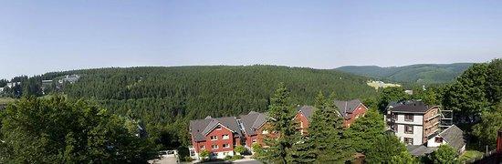Chalet Sonnenhang Oberhof: Ausblick über den Thüringer Wald