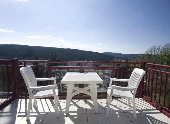 Chalet Sonnenhang Oberhof: Aussicht von unseren Balkons