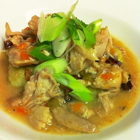 Pizzology: Rabbit Braised in White Wine, with Spring Onion Gnocchi.