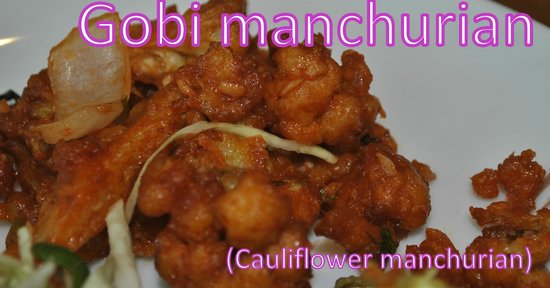Deepam Restaurant: Cauliflower manchurian