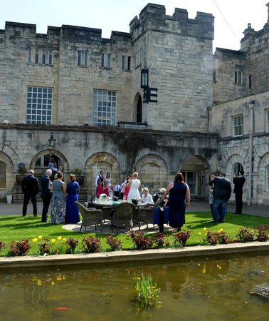 Hazlewood Castle & Spa, BW Premier Collection: Castle Courtyard Area - Great for drinks in the sun!