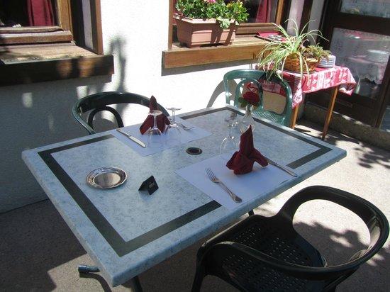Hotel Bellevue : Terrasse été