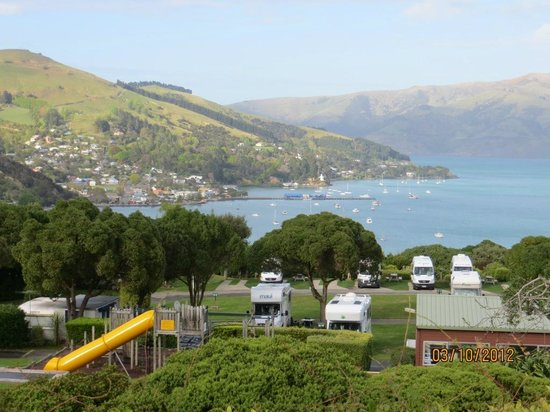 Akaroa TOP 10 Holiday Park: amaneciendo