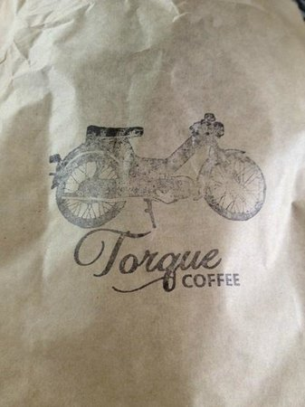 Torque Coffee: bag that muffin came in