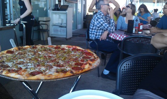 Village Pizzeria Bayside: This is their largest size...
