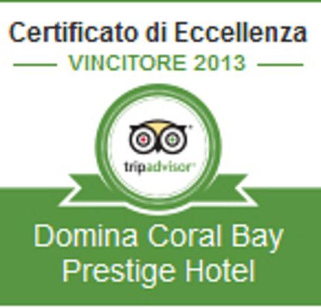 Domina Coral Bay Prestige Hotel: Certificato di Eccellenza 2013